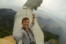 Epic Selfies with Christ / The World's first & only Epic #Selfie with #Christ! Click thru to read the full story of how LeeThompson (an award-winning photojournalist, founder of @theflashpack) snapped this epic selfie from the top the Christ The Redeemer Statue in #Rio