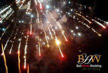 Spectaculer Firework For Wedding / http://balihomewedding.com