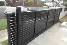 Front electric gates