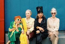 Be a fox. / Older fashionistas.