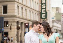 downtown couple photos