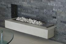 Fireplaces / Cast Cement Concrete Fireplaces & fire Place Surrounds