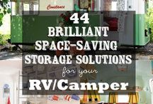 Camper ideas / Storage and decor ideas and general camper knowledge