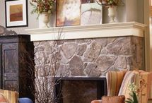 Shelf mantels / Samples of mantels without the legs pinned to inspire.