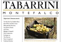 Newsletters / Every few months the winery puts out a seasonal newsletter to keep customers updated on awards, events, and life at the winery.