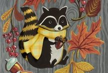 Illustrations Racoons