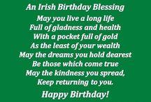 Irish Birthday greeting