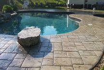 Wet Look Concrete / Wet look stamped concrete patios, wet look concrete pavers, wet look concrete driveways, wet look concrete.