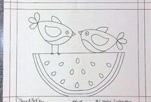 Corujas e aves - Patch e Pintura
