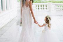 POSING   Bride and flower girl