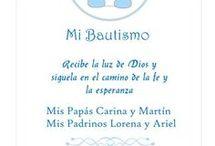 Tarjeta de bautizo