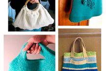 bolsas com tricô
