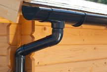 Plastic guttering | Black / Plastic guttering (PVC) provides the best protection from water damage for your shed/ summer house or log cabin. Now you can immediately drain or collect rainwater in, for example, a water butt. Our plastic guttering is available in the gutter type Extra100.