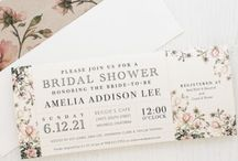Bridal Shower Invitation / Celebrate the bride-to-be with these creative and unique wedding shower invitations. Here's some ideas from us !