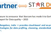 Gartner 's Magic Quadrant report 2015 / It is our pleasure to announce that Starcom has made it to  Gartner 's Magic Quadrant report for Data quality - 2015.