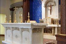 altares en piedra y marmol