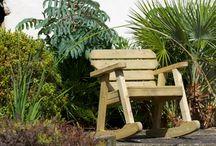 wooden garden benches / Anchor Fast range of wooden garden benches
