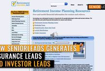 SeniorLeads / About SeniorLeads  SeniorLeads finds Insurance Prospects and Investment Prospects for Financial Advisors by advertising on web sites that affluent 45+ investors & insurance buyers frequent.