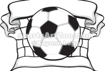 Soccer Designs / Soccer or football Illustrations, Clipart and Designs for athletes, coaches and fans.