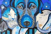 Art   animals in collage