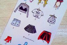 Эскизы одежда