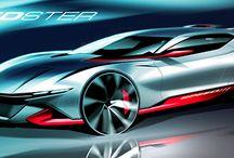 Exterior sketches automotive