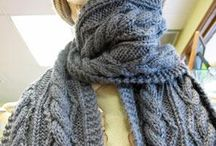 Cable knit scarves and other favs