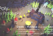 Low Poly Strategy Prototyper - Unity3D - Asset Store / Link: u3d.as/9xL || Low Poly Strategy Prototyper contains 90+ ready-to-use elements to Build or Prototype your own LowPoly styled Game. It comes with 21 Humanoid Animations Clips made using Mecanim System. This asset has been optimised to work really fast on mobile devices.