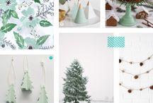 mint: christmas decorations