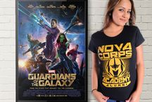 Guardians of the Galaxy t-shirts. / You can find all these wonderful designs at: http://mixedtees.com/guardians