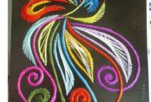 igłą malowane