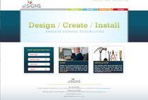 Pixels / Recent website designs by Main St. Design, LLC
