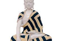 White Meditating Buddha