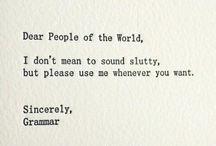 Arggghhhh, grammar