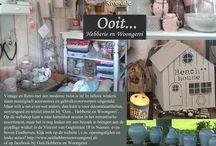 Romantiek en Nostalgie in huis / Interieurideeën en winkels in Tijdschrift Romantiek
