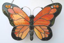 ステンドグラス 蝶々