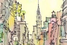 watercolor & sketchbook
