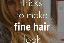 Fine thin hair