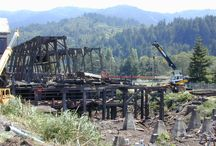 Wood Reclamation - Scotia, CA / North Cal's team of Urban Salvage Specialists take down the historic Pacific Lumber Company (PALCO) sawmill in Scotia, CA (2004-2006).   You can purchase PALCO Reclaimed Redwood and Douglas Fir by calling (707) 462-0686 or online at:   http://OnlineLumberStore.com