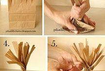 Papier kraft / Papier neutre que l'on peut décliner sous toutes les formes et tous les décors : à l'infini...