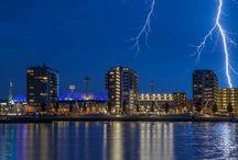 """Feyenoord stadion / Feyenoord stadion """"de Kuip"""" bij onweer!"""