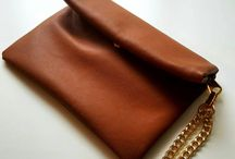 faux leather CLUTCHES