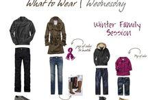 Family portrait clothing ideas / Photography clothing