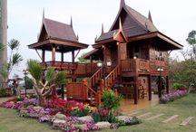 Thai Teak Wood Houses