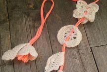 jewelry / Crochet jewelry Handmade jewelry Original jewelry Knit jewelry Choker lace Bracelet handmade Necklace Earrings