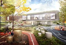 Kindergarten by Lendager Arkitekter / The architectural visuals for Kindergarten by Lendager Arkitekter. Images were created in 2015.