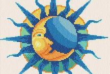 sun and moon (cross stich etc)