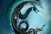 Moon/dragon