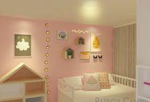 """Projeto HM / Este é o meu primeiro projeto de interiores, uma casa de 3 andares em Eindhoven (Holanda). O projeto é para uma familia jovem com 2 filhos (uma menina de 4 anos e um menino de 3 anos). Neste projeto, a pedido dos clientes, trabalhei texturas de madeira, cores suaves e à pedido do casal: """"Gostamos de espaço"""".  Então, o estilo escandinavo, teve como partida a inspiração deste projeto."""