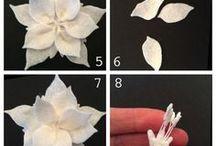 fleurs tissu et papier